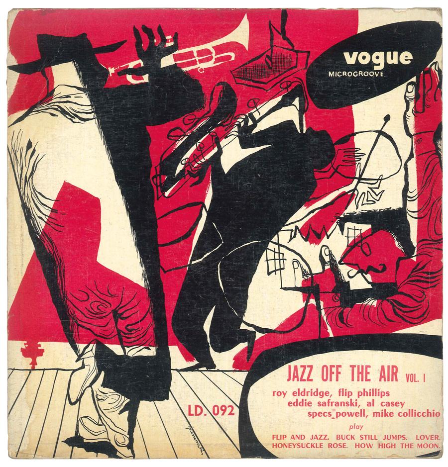 Album Jazz - Label Vogue - Jazz off the aire - Roy Eldridge, Flip Philips, Eddie Safranski, Al Casey, Specs Powell, Mike Collicchio